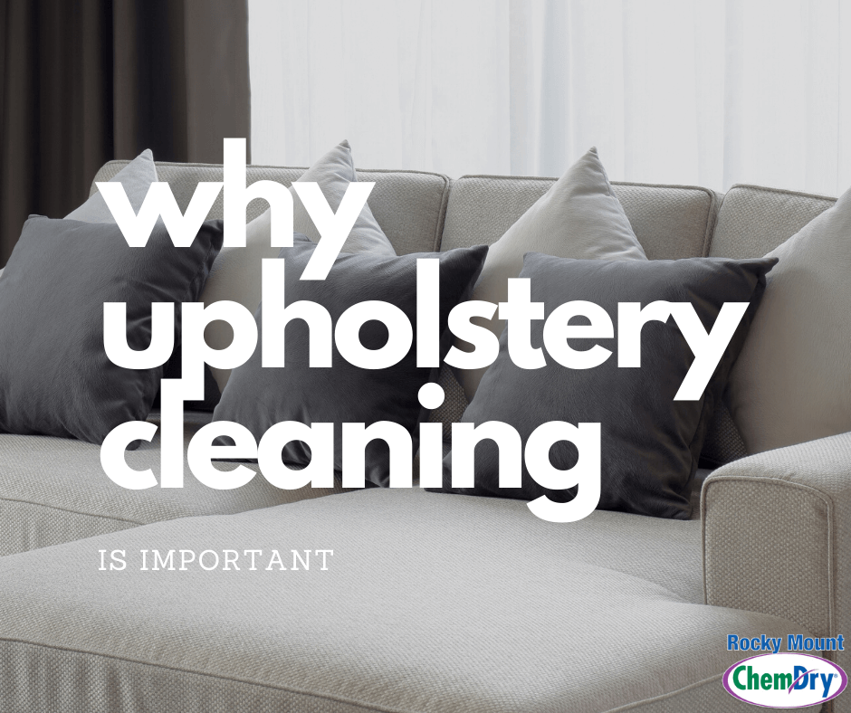 why upholstery cleaning is important chem-dry of rocky mount